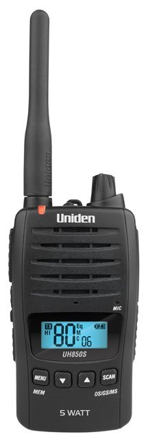 UNIDEN UH850S 5 Watt UHF Waterproof Handheld Radio