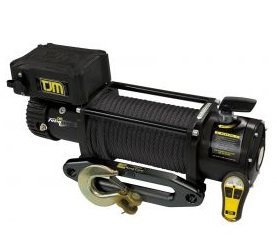 TJM Black Torq Winch 9500LB inc Synthetic Rope